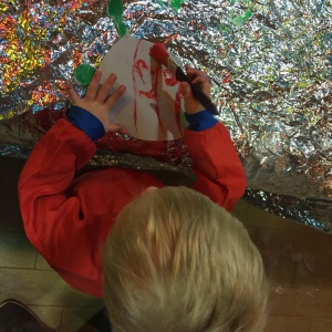 Messy play painting